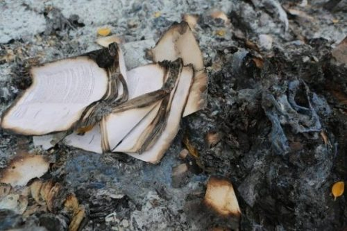 Featured Topic Image A Burning Book Charred.