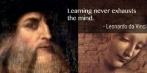 Image Of Leonardo Da Vinci And One Of His Quotes.