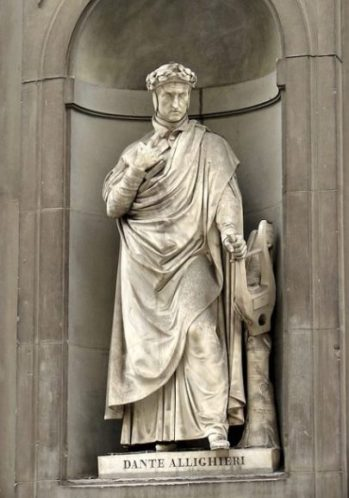 Statue Depicting Poet, Author Dante Allighieri.