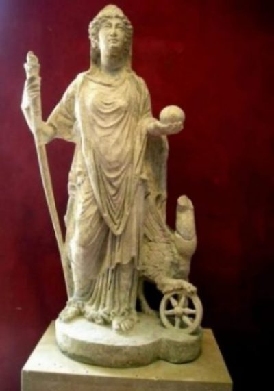 Featured Topic Image Statuette Of Nemesis Of Ancient Greece.