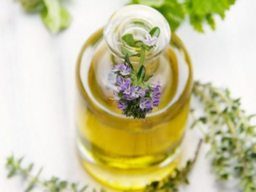 Featured Topic Image. Jar, Flowers Of Thyme. Oiled.