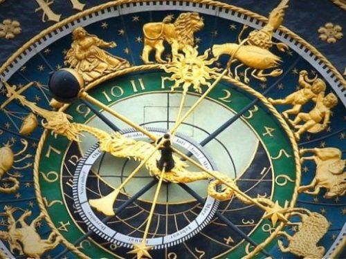 A Close Up Of A Intricate Ornate Zodiac Timepiece/Device.