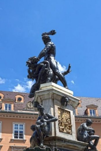 Featured Topic Statue Of Heracles/Hercules Fighting A Beast Of Legend.
