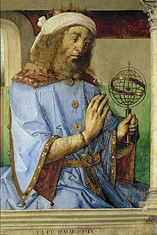 Claudius Ptolemy Holding An Armillary Sphere Model.