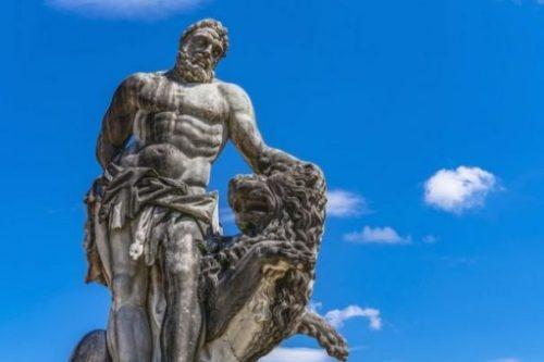 Featured Topic Statue Of Heracles/Hercules With Lion.