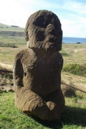 Featured Topic Image A Close Up Of The Kneeling Easter Island Stone Giant Statue.