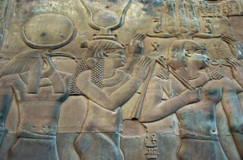 Ancient Egyptian Stone Frieze Of Thoth And Others.