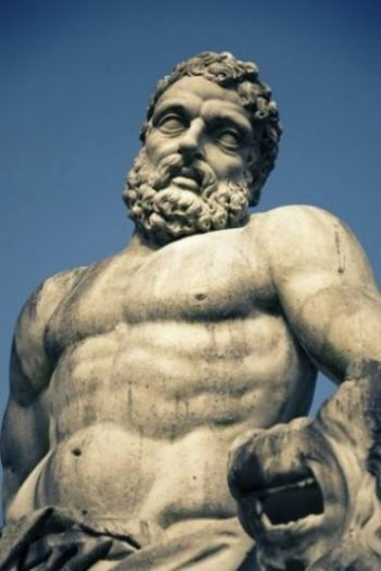 Close Up Image Of A Statue Of Hercules.