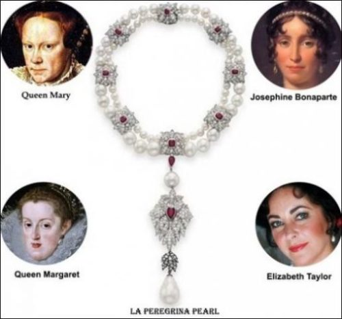 A Historical Display Of The Wearers Of The Famous Pearl The Pilgrim.