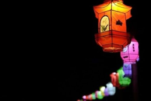 Featured Image Displaying A Night View Of Row Of Lit Chinese Styled Lanterns.