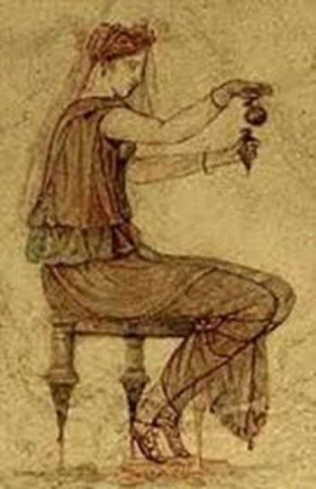 Image Of Ancient Greek Locusta A Herbal/Poison Expert.
