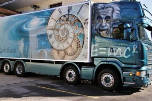 Featured Image Of Art Painted On A Semi-Trailer Truck Cab And Sides.