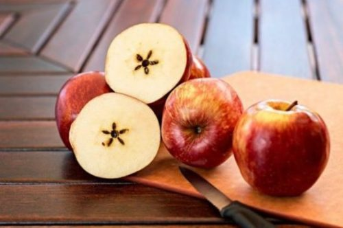 Image Of Apples Sliced Exposing Star Shaped Core.