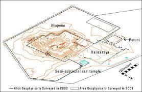 Image Showing Details Of Archaeological Surveys Of Tiahuanaco.