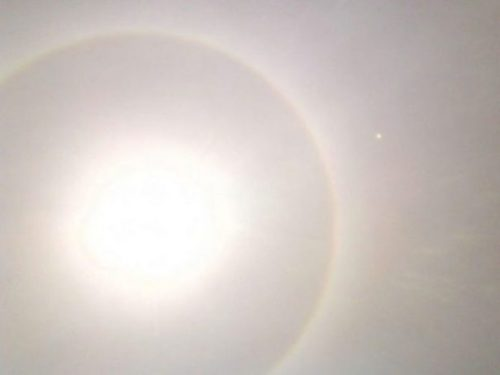 Image Of A Haloed Sun.