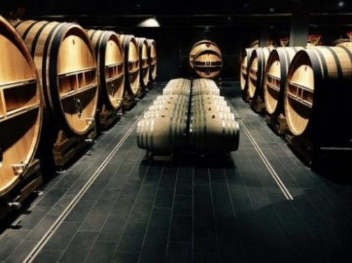 Image Of Several Rows Of Well Made Barrels.