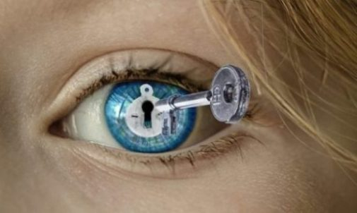 Image Fantasy Of A Key And Lock Opening An Eye.