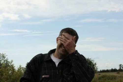 Featured Image Of A Man Covering Eyes With Hand Cheerfully Sarcastic.