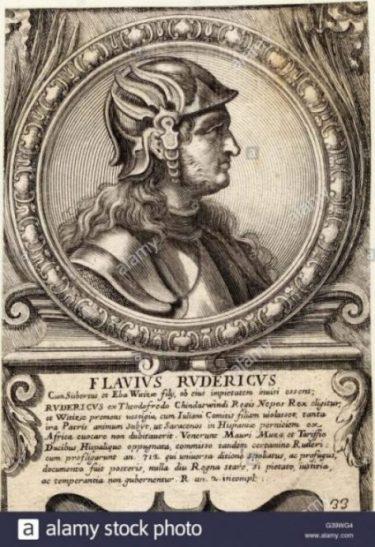 Image Of King Roderic, don Rodrigo Last Toledo Gothic King.