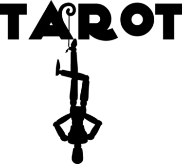 Image Of The Word Tarot And The Hanged Man Symbol Attached To The Letter A.
