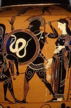 Image Of Classcial Greek Art Depiction Of The War God Mars At War.