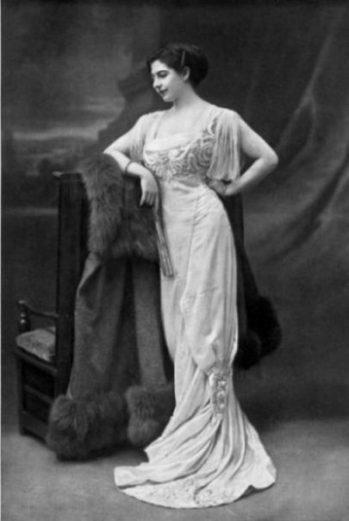 Image Of A Gowned Mata Hari Posing Casually.