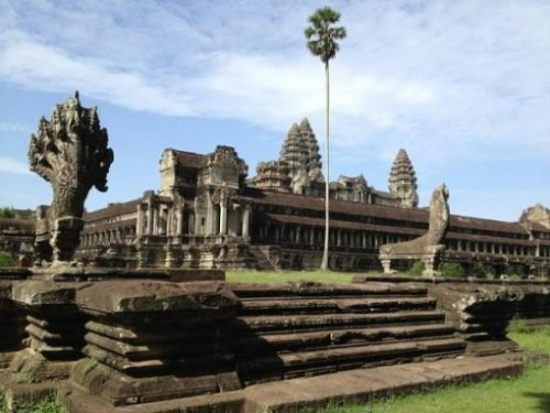 Image Of A Section Of The Yore City Of Angkor Wat.
