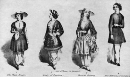 Image Of The Original Bloomers Several Clothing Outfits.