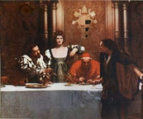 Image Of A Painting Focusing On Borgia Family Members.