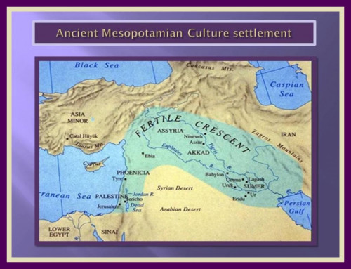 Image Map Of Yore Civilisation Of Sumeria.