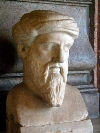 Image Of A Statue/Bust Of Pythagoras.