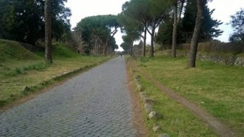 Image Of An Ancient Roman Roadway.