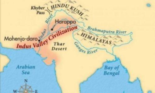 Map Of Yore Indus Valley Region.